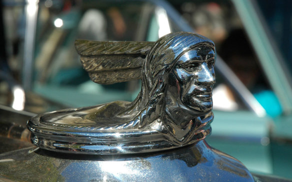 <p>Names played a big part in the development of some hood ornaments. Pontiac was named for the city in which the vehicles were made, Pontiac, Michigan, and both were named after the Odawa chief who lead a raid on Ford Detroit in May 1763 in attempt to drive back British occupation. No authentic images exist of Pontiac, so like many sketches and portraits, the many iterations of the First Nations profile radiator-cap ornament are artists' renditions. (Credit: Wikipedia/MJ)</p> <p> </p>
