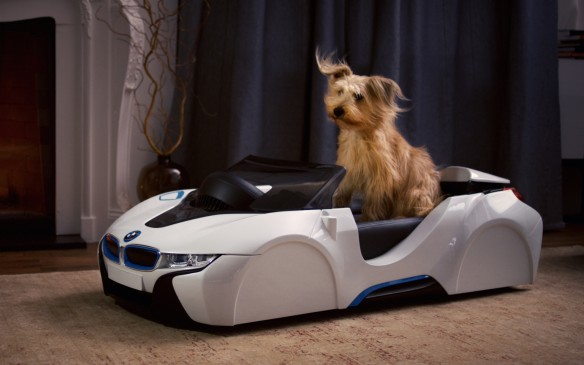<p>Lotus isn't the only manufacturer trying to appeal to pets this April Fools Day, with BMW allowing dogs to recapture the sheer excitement of hanging their faces out car windows in order to feel the wind with its new dDrive Nappa leather dog basket. A carbon fibre TwinPower Turbo fan recreates the exhilaration of speed right in the family room, while three power modes (ECO PRO, COMFORT and SPORT) allow changes in wind speed to mimic real world driving conditions.</p>