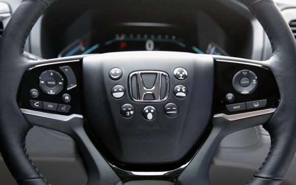 <p>Honda also committed to the emoji conveyance trend, though it put the most often used emojis front and centre on the steering wheel, translating a driver's emotions into catchy horn sounds to provide the perfect sound track to suit any situation encountered on the road — like the sound-effects on The Price is Right, you can cat-call, get angry or cackle with laughter at the push of a button. You can even warn dogs you're approaching (without disturbing humans).</p>