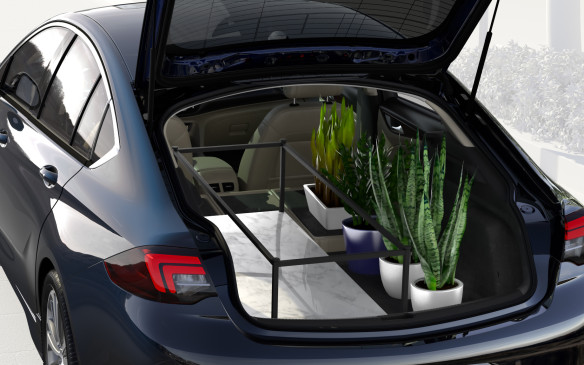 <p>2018 Buick Regal Sportback cargo area</p>