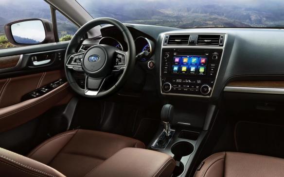 <p>2018 Subaru Outback interior</p>