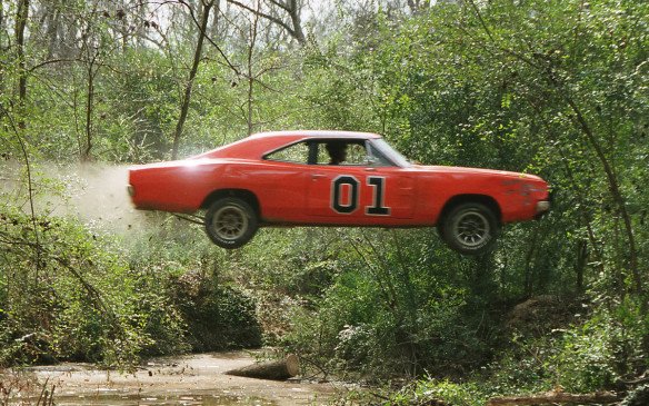 <p>The car from The Dukes of Hazzard probably wouldn't make it past the politically-correct producers in today's TV environment, what with the name of the US Confederate General in Chief, the Confederate flag on the roof, and the horn playing the introduction to I Wish I Was in Dixie. The cars themselves (estimates range from a total of 255 to 325 used over the series' run) were based on 1968-69 Dodge Chargers, with motorized versions using the Dodge 383 cid V-8. The doors were welded shut and depending on the stunt requirements, some had lifted suspensions, roll cages or added ballast.</p>