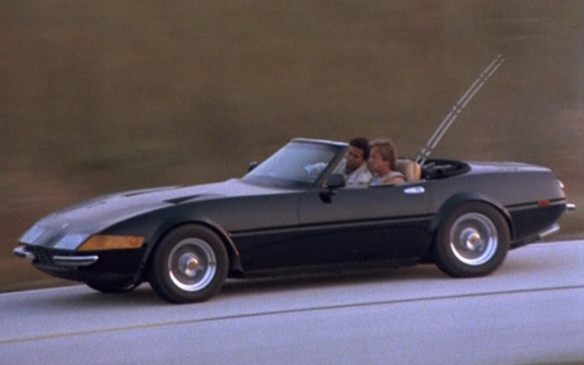<p>One of the lesser automotive TV star is Sonny Crockett's Ferrari Daytona Spyder 365 GTS/4 from Miami Vice. It's actually a kit-car and although it wasn't acknowleded as such, it would actually make it more believable that Sonny could afford it on his public-servant's salary than the actual Testarossa he obtained (explained as supplied by his department to maintain his cover, as if police departments could justify such an expense) after the Daytona was blown up (reportedly at Ferrari's insistence). Two cars were created for the show by McBurnie Coachcraft, though the pilot episode did use an actual Daytona (towed on the back of a flatbed during driving scenes).</p>