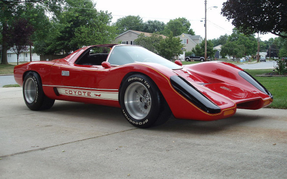 <p>The car used in the series Hardcastle and McCormick was meant to look like a McLaren M6GT race car (the closed cockpit Le Mans version of Bruce McLaren's M6) and was created true to spec by Mike Fennel. Like many kit cars from that era, the Coyote X (or Cody Coyote) was built on a VW Beetle chassis and powered by a Porsche 914 engine (for obvious reasons the combination was easy to work with and sounded amazing), though later versions used De Lorean DMC-12 underpinnings to raise the ground clearance and make it easier for star Brian Keith to get in and out of. (Credit: Wikipedia/Eazyrip)</p>