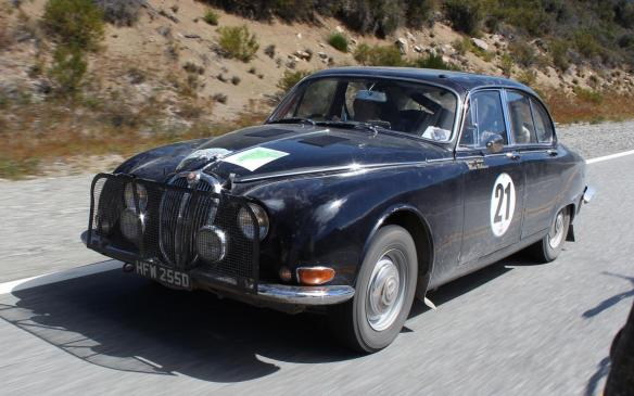 <p>Classic Jaguar rally car</p>