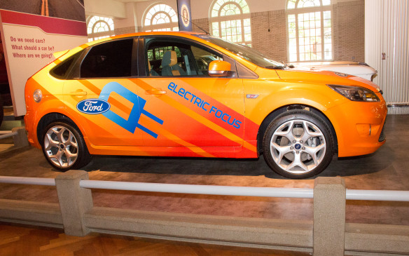 <p>From modern day, this Ford Focus Electric illustrates how alternative-energy vehicles have become part of the mainstream.</p>