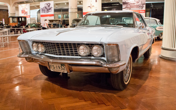 <p>General Motors took a different styling direction as well, under the direction of new design chief Bill Mitchell. One of the most acclaimed designs of the period was this 1963 Buick Riviera personal coupe.</p>