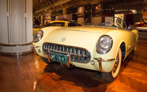 <p>By the mid-'50s the American sports car has arrived. General Motors introduced the Corvette in 1953 and added its now-iconic V-8 engine in this 1955 model - the last of the original design.</p>
