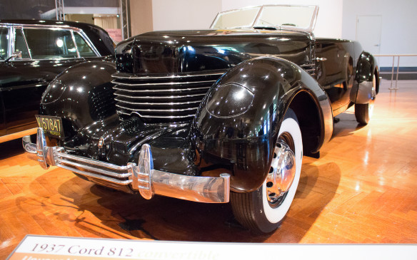 <p>The styling of this 1938 Cord 812, by legendary designer Gordon Buehrig, is widely considered to be among the best automotive designs ever. Its exotic character was reinforced by the fact that it was the only front-wheel-drive American car on the market at the time.</p>