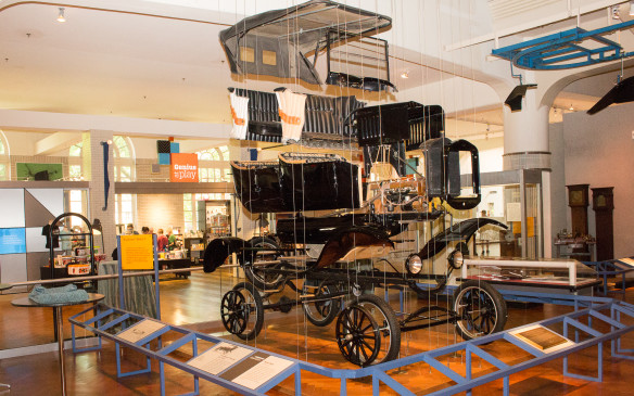 <p>The mission of the museum is to educate, which is the reason behind exhibits such as this exploded Ford Model T, showing all its major parts and how they fit together. </p>