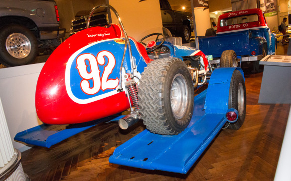 <p>It's not just Ford race cars in the museum, which is more about the American way of life than the brand itself. This Chevy-powered sprint car, driven by Bobby Unser on short, dirt oval tracks back in the day, represents a uniquely American form of racing.</p>