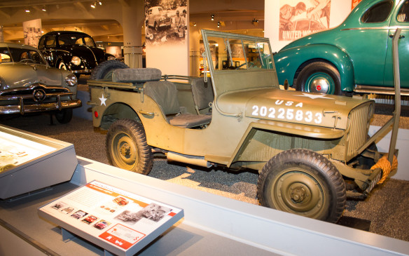<p>Among the most significant vehicles on the timeline is this 1943 Willys Jeep, designed and built specifically for use by the American Army in WWII. Ford also produced Jeeps to the same specification for the war effort.</p>