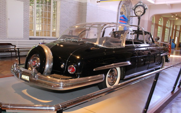 <p>Addressing safety from a different perspective is this bubble-topped Eisenhower-era Lincoln presidential limousine - one of several such limos in the museum's collection.</p>