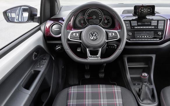 <p>Volkswagen up! GTI concept interior</p>