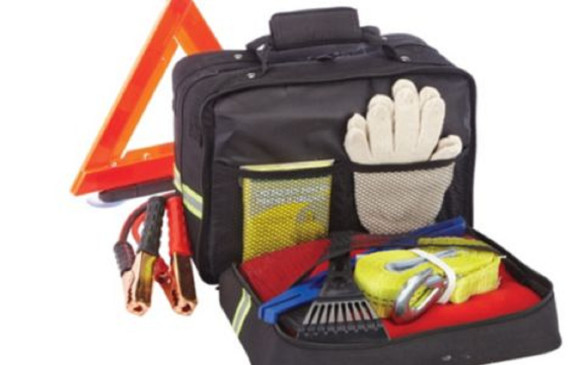 "<p>Everyone should have a roadside emergency kit in the trunk, but few people take the time to properly pull one together. Save Dad the effort and pick him up a ready-made one. This example, <a href=""http://www.canadiantire.ca/en/pdp/premium-auto-safety-kit-0091605p.html#srp"">$65.99 at Canadian Tire</a>, comes with a multi-tool, flashlight, spare batteries, a tire gauge, a first-aid kit, a fleece blanket, a snow brush, a telescopic shovel, an air compressor, a tool kit, a booster cable, plus more -- and it also includes one year of free roadside assistance.</p>"