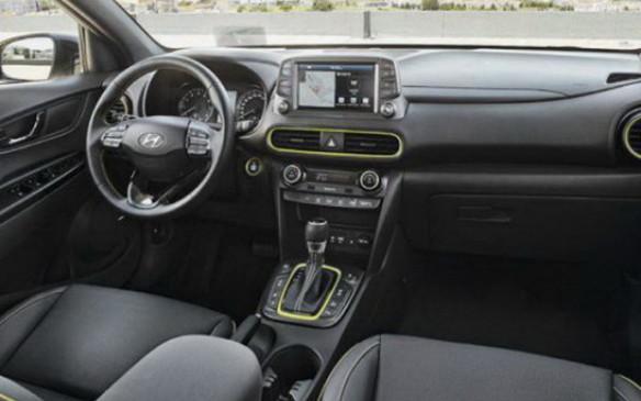 <p>2018 Hyundai Kona interior</p>