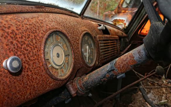 <p>All but the knobs, conquered by rust</p>