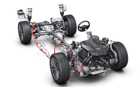 Audi A8 mild hybrid system