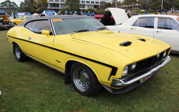 <p>Bearing a visual likeness to the big Mustang fastbacks of the early 1970s, the full-sized XB Falcon coupe was produced in Australia for only four years (1973-76). The GT used a 5.8-litre V-8 and is best known in real life for its exploits on the racetrack, counting Australian touring car sprint and endurance victories at the hands of Canadian-born Allan Moffat. (Credit: Wikimedia Commons/Sicnag)</p>