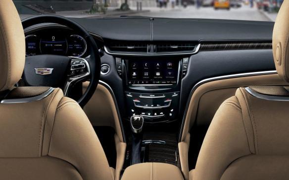 <p>2018 Cadillac XTS interior</p>
