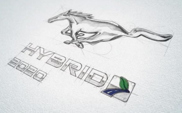 <p>Hybrid logo for 2020 Mustang</p>