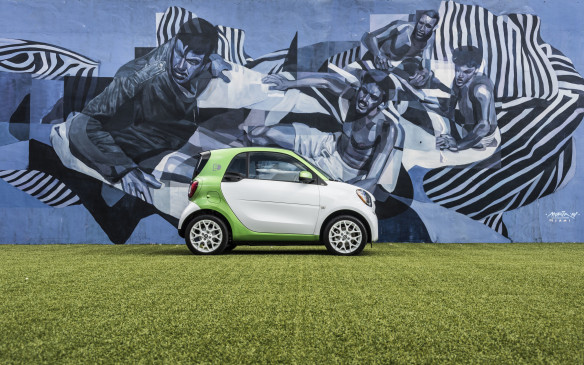 <p>The new Smart EV is considerably more expensive than the gasoline-powered Smart. The hardtop EV, seen here, will cost $28,800 and the cabriolet EV will cost $31,800. This is an increase of almost $2,000 from the previous-generation EV, and about $10,000 more than each of the gas-powered Smarts.</p>