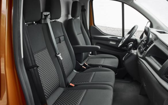 <p>2018 Ford Transit cabin</p>