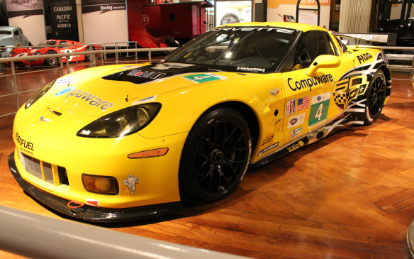 <p>The newest race car on display is a Corvette C6.R, on loan from the General Motors Heritage Center. It's representative of the bow-tie brand's class multiple winners at Le Mans, as well as at the 12 Hours of Sebring and numerous other American Le Mans Series events. Many of those wins were earned by renowned Canadian driver Ron Fellows.</p>