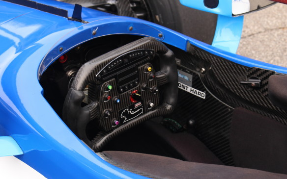 <p>The driver's office is a bit more cramped but almost all the controls needed are clustered on the steering wheel.</p>