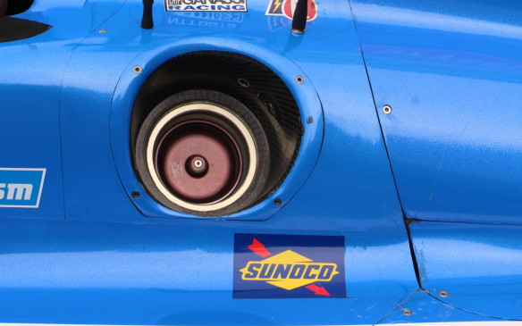 <p>The fuel receptacle on the cars is standardized so it's the same for all and they all use the same Sunoco ethanol fuel.</p>