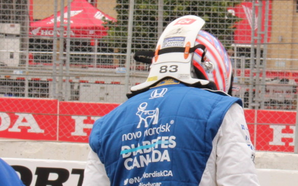 <p>In addition to all the safety protection in the cars themselves, the drivers each wear their own HANS Device, attached to their helmet, to help protect them from whiplash injury in the event of a crash.</p>