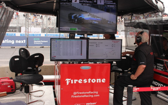 <p>In addition to each team's own telemetry data from its own cars, IndyCar provides timing and scoring data and video to all the teams.</p>