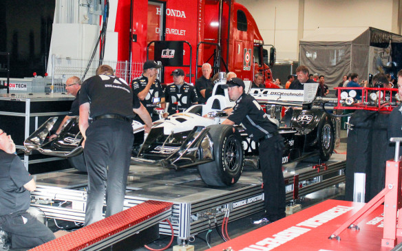 <p>Beyond just a visual examination, Indycar records precise dimensions of key criteria such as wing heights.</p>