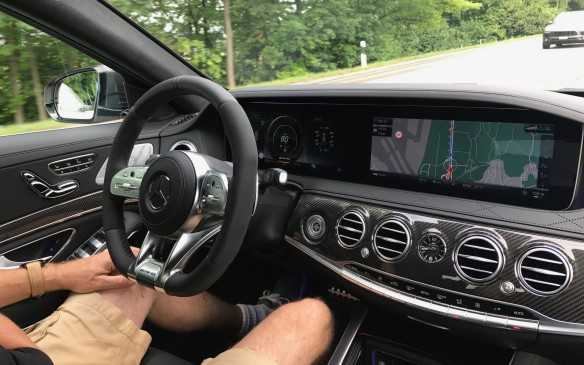 <p>The new S-Class will still make you put your hands on the wheel at least every 30 seconds, but it can now go around steeper curves and at a greater range of speeds. We didn't want to test this too thoroughly on public roads, however – the consequences of being wrong could have been disastrous.</p>