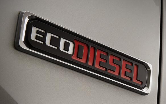 <p>2015 Ram EcoDiesel badge</p>