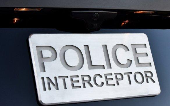 Ford Police Interceptor Utility licence plate holder