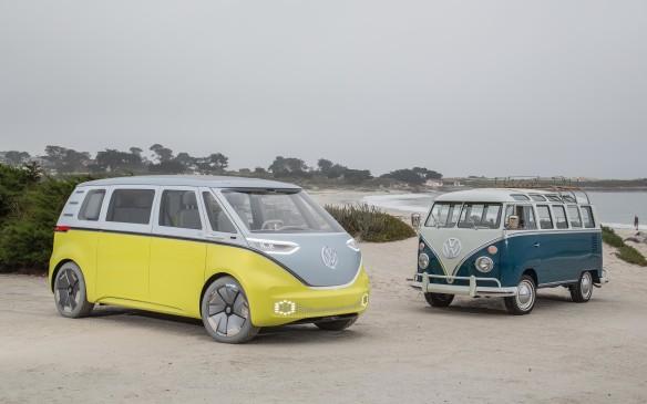<p>Volkswagen I.D. Buzz concept with Type 2</p>