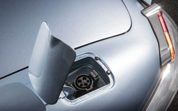 <p>Jaguar E-type Zero charge port</p>