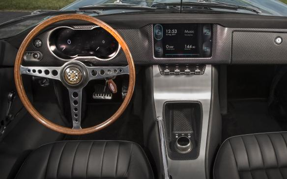 <p>Jaguar E-type Zero interior</p>