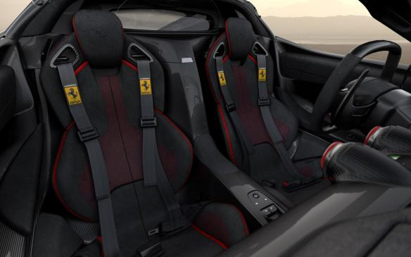<p>LaFerrari Aperta seats</p>