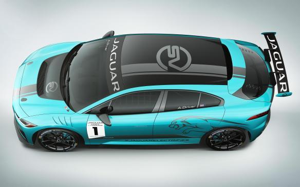 <p>Jaguar I-Pace eTrophy racecar</p>