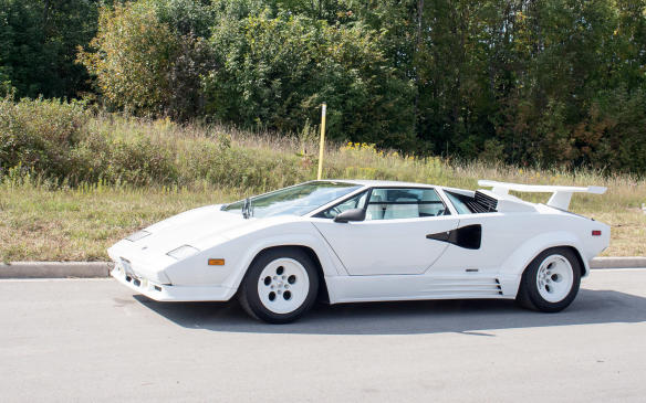 <p>Of course, there had to be a Countach. This 1988 Lamborghini Countach 5000 also took part in the Tour.</p>