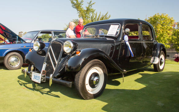 <p>The People's Choice winner at Cars & Coffee,which was open to the public, was this pristine Citroen Traction Avant.</p>