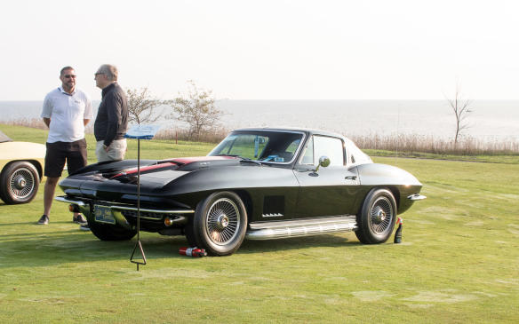 <p>The C2/C3 class winner was this big-block1967 Chevrolet Corvette Coupe with outside pipes and an exhaust note to match.</p>