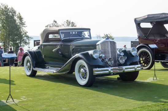 <p>This 1933 Pierce-Arrow 1242 Convertible Coupe was judged not just the class winner but also the Outstanding Pre-War Car on the field.</p>