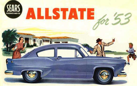 <p>In 1948, Henry J. Kaiser had an idea to stimulate sales of his company's slow-selling Henry J compact 2-door fastback sedan — sell it through the Sears, Roebuck catalogue. The idea didn't go over well with Kaiser dealers, who didn't like the process of customers ordering their cars through a catalogue. The car was rebranded Allstate and added equipment not available on the Henry J, and the price was lower, so that didn't go over well with Kaiser dealers, either. But then they were asked to service them, too. The car was offered for model years 1952 and 53, totalling over 2,300 purchases.</p>