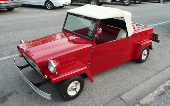 "<p>A microcar produced from 1946 through 1970, the King Midget's claims to fame was its maker's ability to match sales to production, a steady improvement in features and design, and a successful marketing scheme of placing small ads in publications for a $270 single-seat kit car resembling a midget racer. The company (Midget Motors of Ohio) soon started offering fully built models and the 2-seat Model 2 convertible came along in 1947, advertised as a ""500-lb. car for $500."" A third generation came along in 1957, armed with more modern components such as hydraulic brakes and a reverse gear, and a body that lasted through to the end of production in 1970, after the founders retired and the consortium that took over abandoned the philosophy of matching production to sales.</p>"