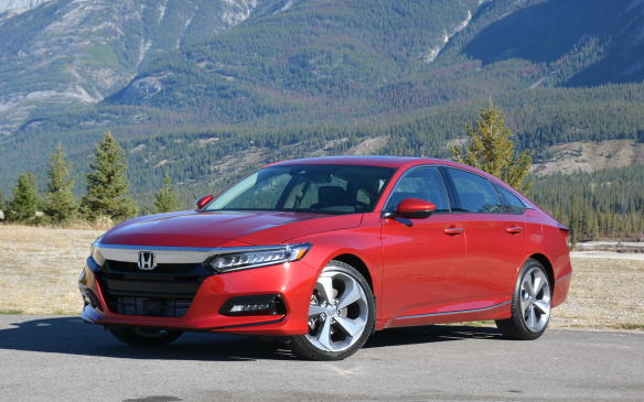 <p>At a starting price of $26,490, the all-new 2018 Honda Accord arrives at dealerships in late October. That's when the 1.5-litre turbo becomes available, to be followed by the 2.0-litre unit at the end of November. In addition, the Accord will get a hybrid offering early in 2018, to compete with those of the Sonata and Camry.</p>