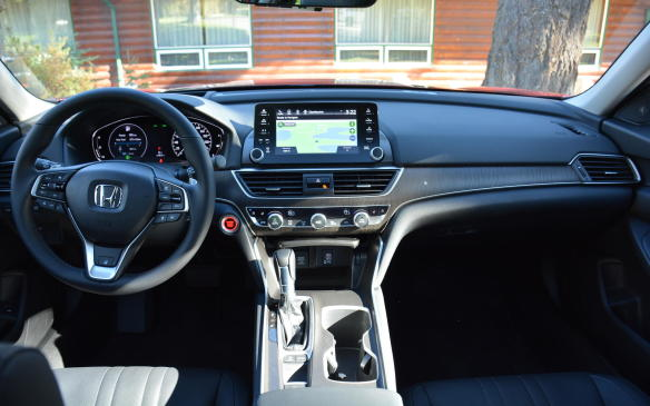 <p>Honda has implemented a few new tricks for ultimate cabin quietness, including, for the first time in a Honda, a standard active noise-cancellation system that makes use of three microphones. Additionally, there are a few firsts for the Accord model, including acoustic spray foam in its roof, door panels and eight other locations, as well as noise-reduction coatings in the wheel.</p>