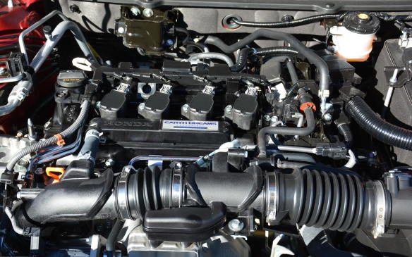 <p>Unlike the Camry, the Accord has dropped its V-6 engine, in favour of two turbocharged four-cylinder choices. The base 1.5-litre engine produces 192 hp and 192 lb-ft of torque, the greatest numbers yet for an Accord's base engine. The other option is a 2.0-litre four-cylinder rated at 252 hp and 273 lb-ft of torque, the highest torque number ever in an Accord, despite dropping two cylinders.</p>